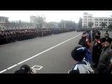 Начало строевого смотра ТКВ (17.11.2012, Ставрополь) Доклад атамана Ставропольского округа Фалько и вынос знамен